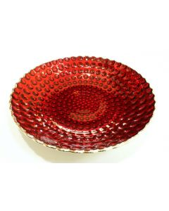 Pure Silver Centerpiece - Red Bowl