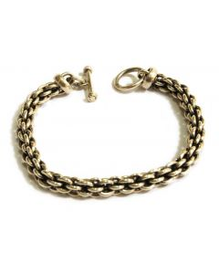 Heavy Chain Link Sterling Silver Bracelet, 7.5 inches
