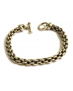 Heavy Chain Link Sterling Silver Bracelet, 8 inches