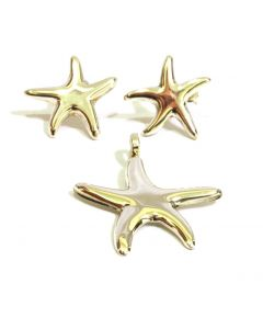 Starfish Earring and Pendant Set
